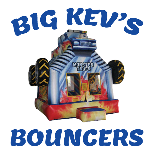 Big Kev's Bouncers - logo with monster truck
